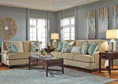 Appleton garnitúra egyedi tervezés gyártás hagyományos elegáns kényelmes puha szövet bézs párna választható faláb