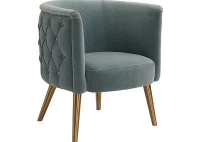Colmar fotel, bársony, klasszikus