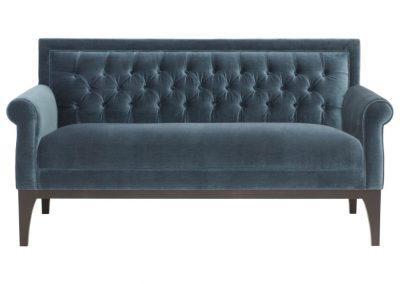 Trend Danby kanapé egyedi tervezés gyártás hagyományos elegáns kényelmes puha bársony kék mélytűzött faláb