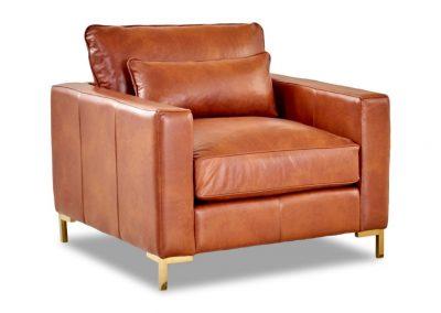 Den Ham fotel, bőr, modern