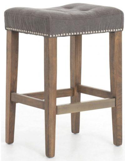Forbes bárszék egyedi tervezés gyártás hagyományos kényelmes támla és karfa nélküli szövet szürke faláb