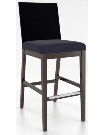 Hazelton bárszék egyedi tervezés gyártás hagyományos elegáns kényelmes támlás karfa nélküli bársony kék faláb