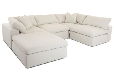 La Plata garnitúra egyedi tervezés gyártás hagyományos u-alakú elegáns kényelmes puha szövet fehér faláb