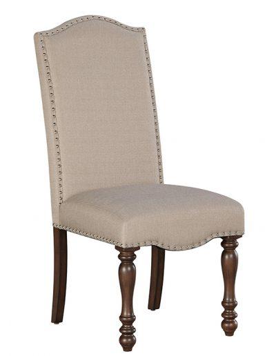 Limon szék egyedi tervezés gyártás hagyományos elegáns kényelmes íves karfa nélküli szövet drapp faláb