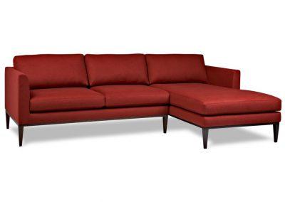 Modern Lokeren kanapé lábtartós egyedi tervezés gyártás hagyományos elegáns kényelmes szövet piros faláb