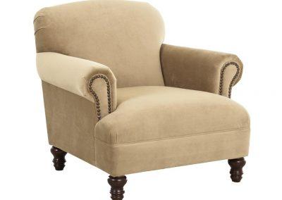 Luray fotel, bársony, trad.