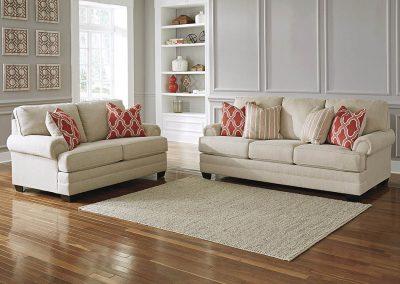 Madison garnitúra egyedi tervezés gyártás hagyományos elegáns kényelmes puha szövet törtfehér faláb
