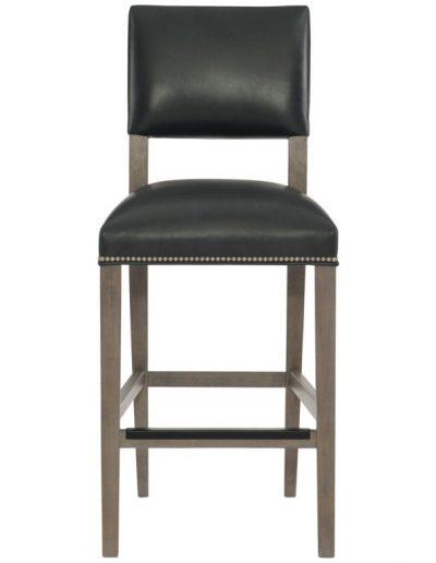 Medina bárszék egyedi tervezés gyártás hagyományos elegáns kényelmes támlás karfa nélküli bőr fekete faláb