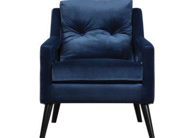 Menton fotel, bársony, modern