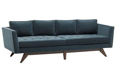 Trend Mercury kanapé egyedi tervezés gyártás hagyományos elegáns kényelmes bársony kék mélytűzött faláb