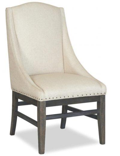 Mesita szék egyedi tervezés gyártás hagyományos elegáns kényelmes puha szövet törtfehér faláb