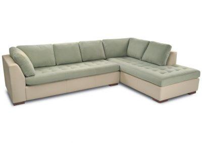 Modern Midlum kanapé lábtartós egyedi tervezés gyártás hagyományos elegáns kényelmes mélytűzött velúr zöld bézs faláb