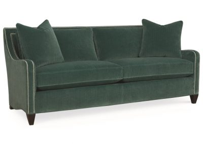 Trend Modesto kanapé egyedi tervezés gyártás hagyományos elegáns kényelmes puha plüss zöld díszszeg faláb