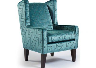 Nispen fotel, bársony, modern