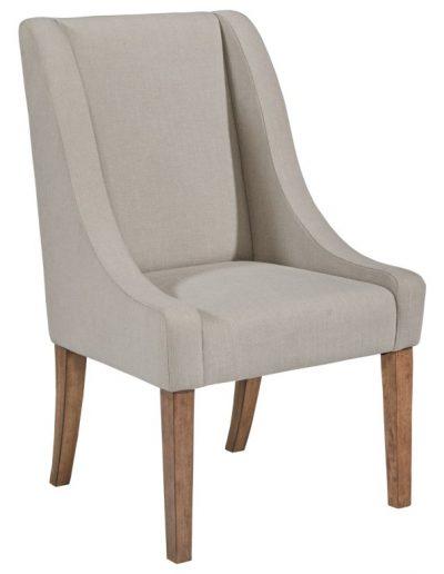 Questa szék egyedi tervezés gyártás hagyományos elegáns kényelmes puha szövet drapp faláb