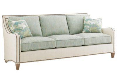 Trend Vernon kanapé egyedi tervezés gyártás hagyományos elegáns kényelmes puha szövet bézs türkiz díszszeg faláb
